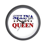 SELINA for queen Wall Clock