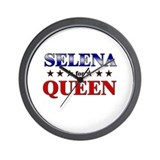 SELENA for queen Wall Clock