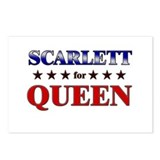 SCARLETT for queen Postcards (Package of 8)