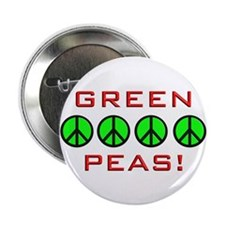"Green Peas, Green Peace 2.25"" Button (10 pack)"