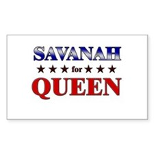 SAVANAH for queen Rectangle Decal