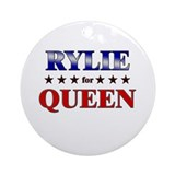 RYLIE for queen Ornament (Round)