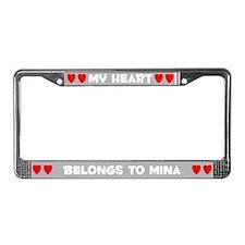 My Heart: Mina (#006) License Plate Frame