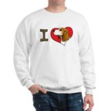 I heart beagles Sweatshirt