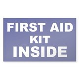 First Aid Kit alert Decal