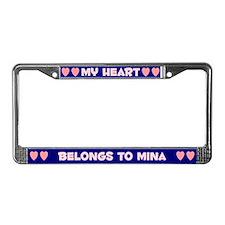 My Heart: Mina (#008) License Plate Frame