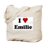 I Love Emilie Tote Bag