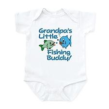GRANDPA'S LITTLE FISHING BUDDY! Infant Bodysuit