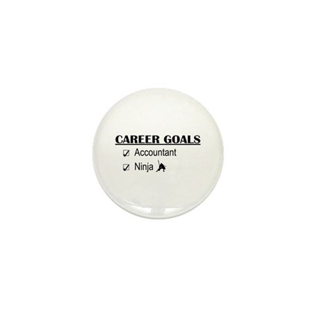 Accountant Carreer Goals Mini Button