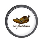 I love Jalapeno Poppers Wall Clock
