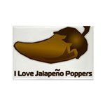 I love Jalapeno Poppers Rectangle Magnet (100 pack