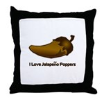 I love Jalapeno Poppers Throw Pillow