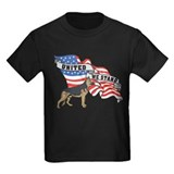 German Shepard United We Stand American Flag T