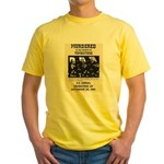 Tombstone Murder Yellow T-Shirt
