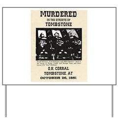 Tombstone Murder Yard Sign