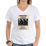 Tombstone Murder Women's V-Neck T-Shirt