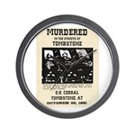 Tombstone Murder Wall Clock