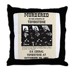 Tombstone Murder Throw Pillow