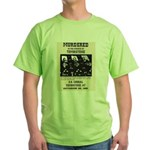 Tombstone Murder Green T-Shirt
