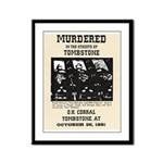 Tombstone Murder Framed Panel Print
