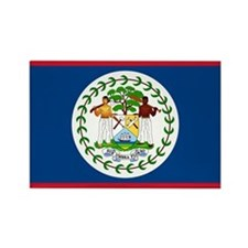 Belize Country Flag Rectangle Magnet