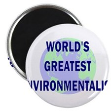 "World's greatest Environmenta 2.25"" Magnet (10 pac"