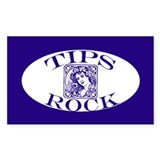 Pretty Woman Tips Rock Tipjar Sticker (Rectangular