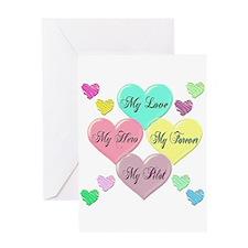 4 Hearts Pilot Greeting Card