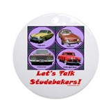"""Let's Talk Studebakers"" Ornament (Round"