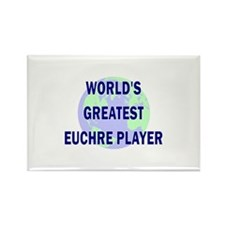World's Greatest Euchre Playe Rectangle Magnet