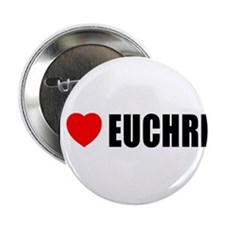 "I Love Euchre 2.25"" Button"