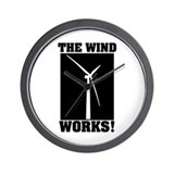 The Wind Works! Wall Clock