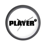 PLAYER Wall Clock