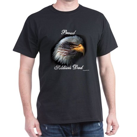 Proud Soldiers Dad (eagle/fla Dark T-Shirt