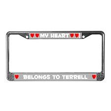 My Heart: Terrell (#006) License Plate Frame