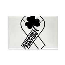 SUPPORT FARTING RIBBON Rectangle Magnet