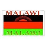 Malawi Flag Rectangle Sticker