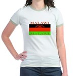 Malawi Flag Jr. Ringer T-Shirt