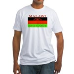 Malawi Flag Fitted T-Shirt