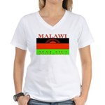 Malawi Flag Women's V-Neck T-Shirt