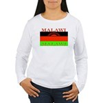 Malawi Flag Women's Long Sleeve T-Shirt