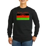 Malawi Flag Long Sleeve Dark T-Shirt