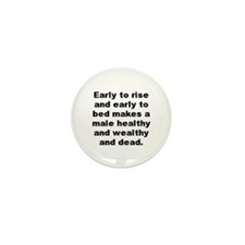 Male quotes Mini Button (10 pack)