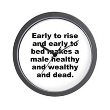 Cool Male quotes Wall Clock