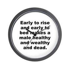 Male quotes Wall Clock