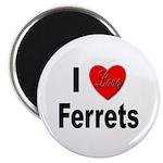 I Love Ferrets Magnet