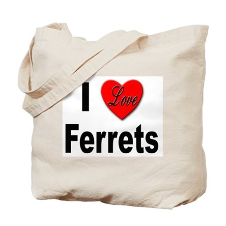 I Love Ferrets Tote Bag