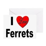 I Love Ferrets Greeting Cards (Pk of 10)