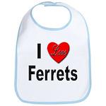 I Love Ferrets Bib
