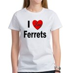 I Love Ferrets (Front) Women's T-Shirt